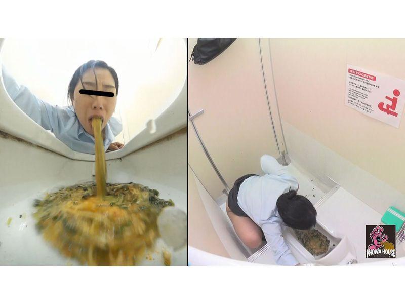 駅のトイレ激嘔吐 1