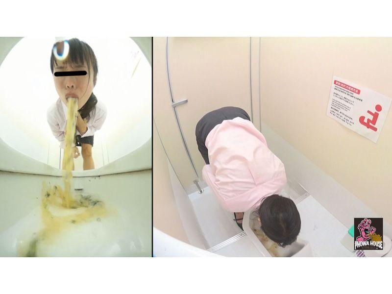 駅のトイレ激嘔吐 3