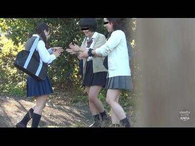 隠撮 女学生じゃれ合いっこ野ション 壱 2