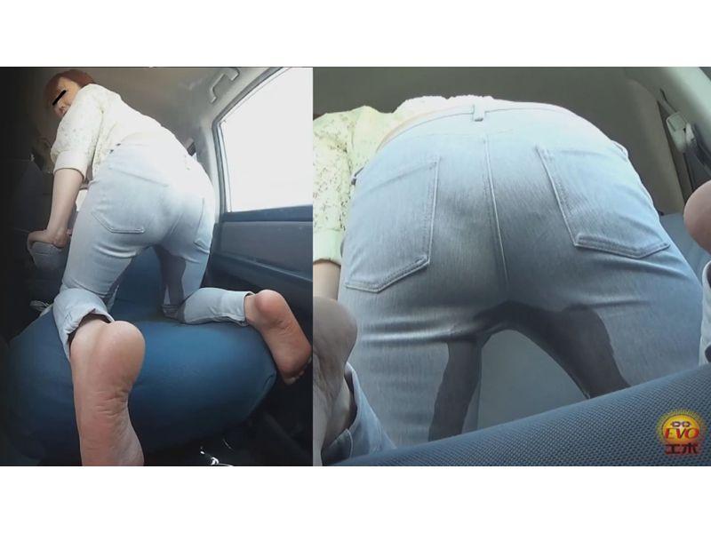 車内盗撮 女友達の小便&お漏らし 3