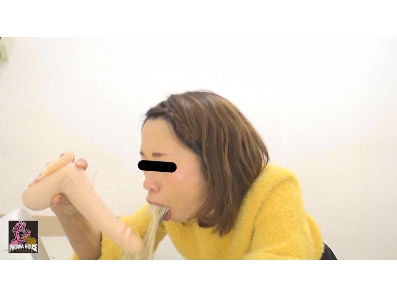 投稿動画 イラマゲロ女② 〜いっぱい食べて喉奥ディルド〜 4