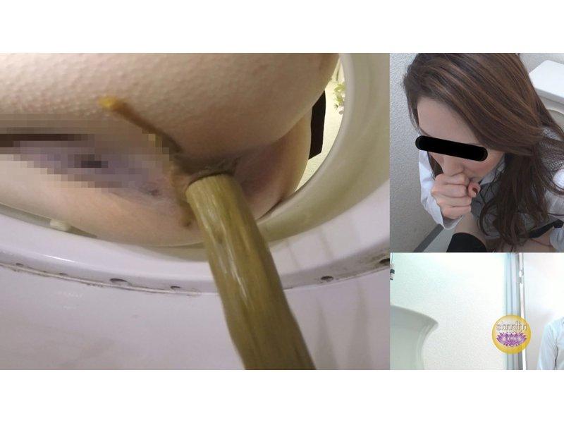 社内隠撮 OL大便記録⑤ 新入社員入り 給湯室横トイレで気まずい排泄  2