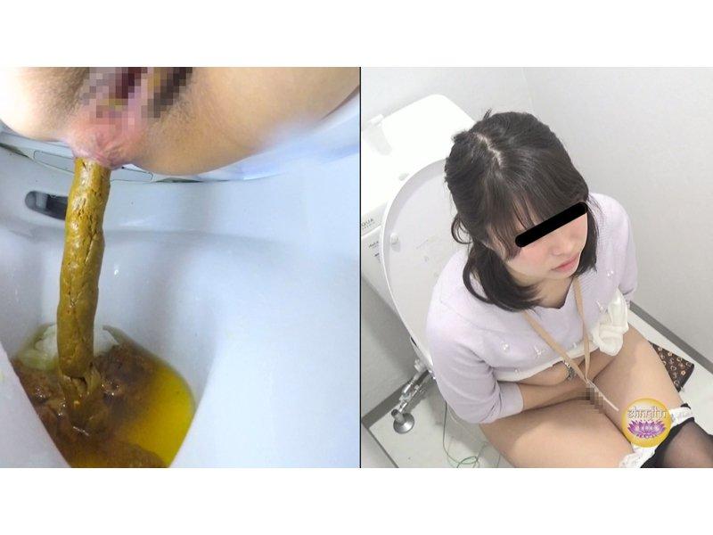 社内隠撮 OL大便記録⑤ 新入社員入り 給湯室横トイレで気まずい排泄  4
