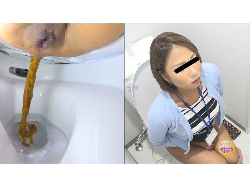 社内隠撮 OL大便記録⑤ 新入社員入り 給湯室横トイレで気まずい排泄  5