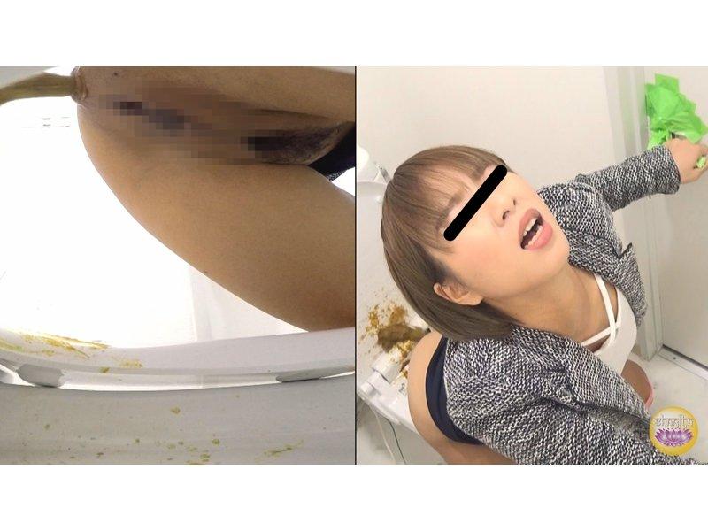 社内隠撮 OL放屁下痢便記録③ 給湯室横トイレで気まずい放屁排泄 3