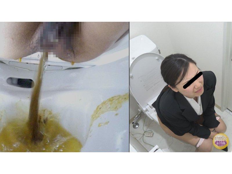 社内隠撮 OL放屁下痢便記録③ 給湯室横トイレで気まずい放屁排泄 4