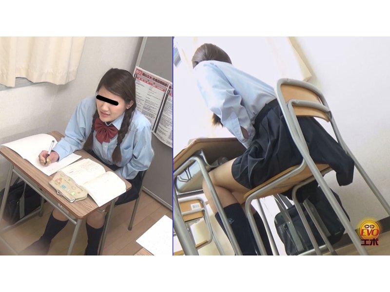 学習塾盗撮 授業中に滴るおしっこお漏らし3 3
